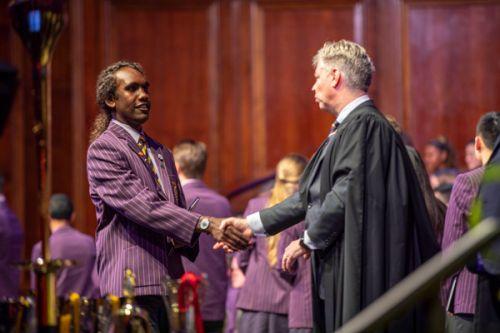 Year 12 student graduating from the 2019 Glen Waverley Speech Night